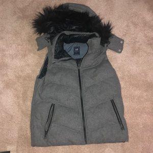 Hooded Grey Vest